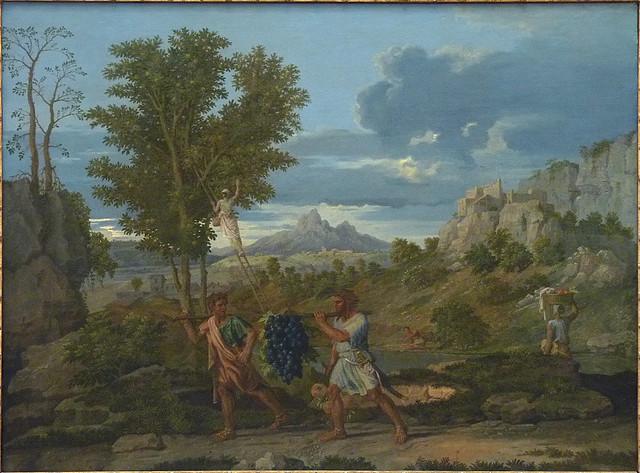 POUSSIN Nicolas,1660-64 - L'Automne, La Grappe de Raisin rapportée de la Terre Promise (Louvre) - 0