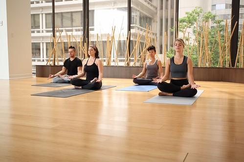Yoga class on a yoga retreat   by WeTravel.com