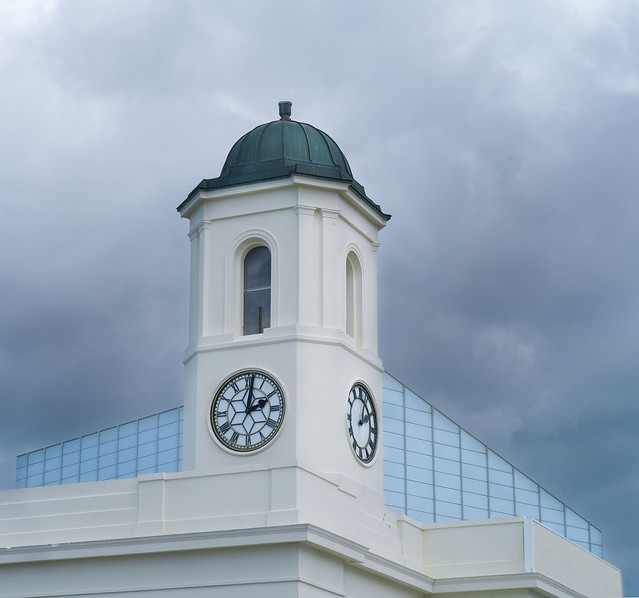 Droit House clock tower