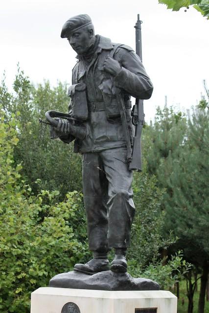 National Arboretum, England - The Durham Light Infantry Monument.