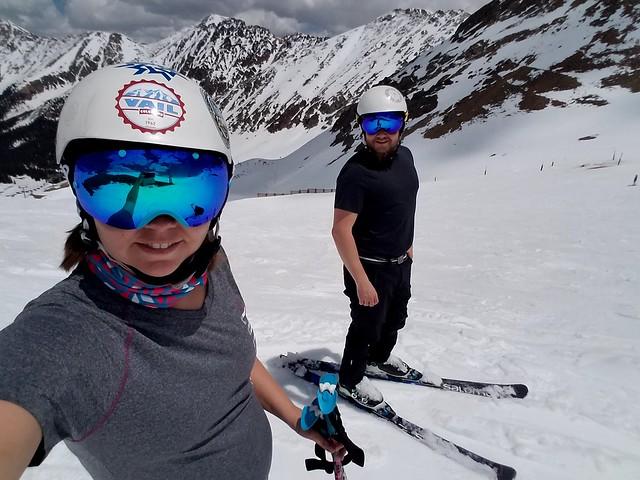 Skiing Arapahoe Basin in June