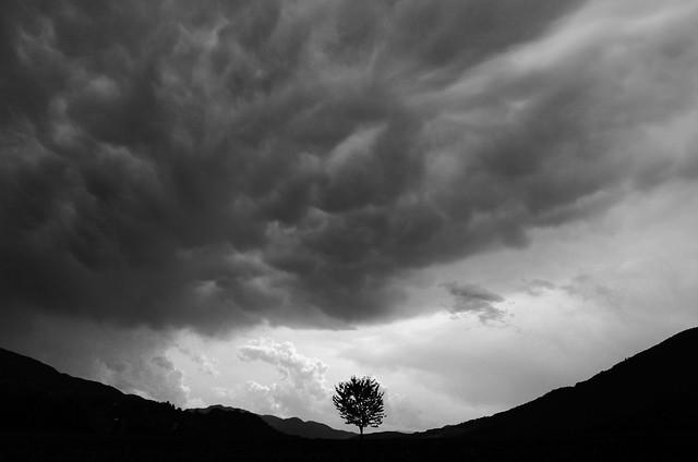Temporale in Val Trebbia
