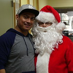 Santa and Eliazar, one of our Facilities Technicians