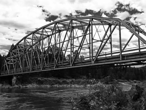 river blackandwhitephotography steelbridge bridge metal