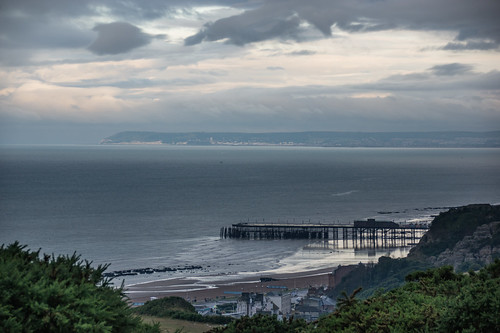 hastingspier beachyhead zoomlens landscape seascape eastsussex earlymorning clouds takenfromtheeasthill