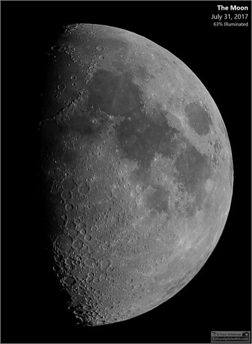 tomwildoner leisurelyscientistcom leisurelyscientist moon lunar crater waxinggibbous waxing gibbous solarsystem astronomy astrophotography astronomer meade telescope canon canon6d backyardeos video stacking science space nightsky night