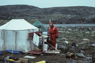 Me at home in our research lab in the Nuvuk Islands. | by Derek Keats