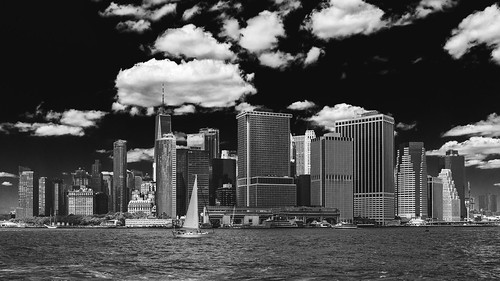 Manhattan bound from Governors Island.