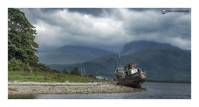 Copach Boatwreck, Scotland.