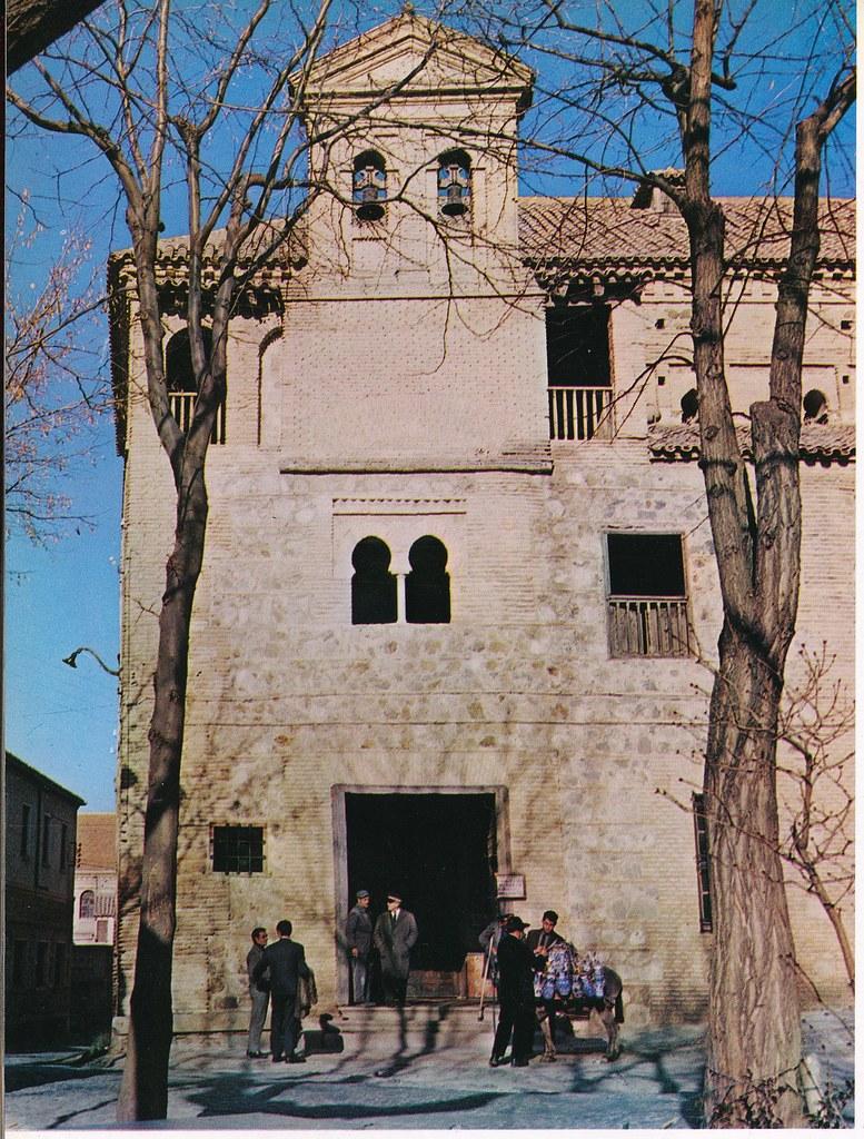 Sinagoga del Tránsito de Toledo hacia 1967 por Marc Flament.