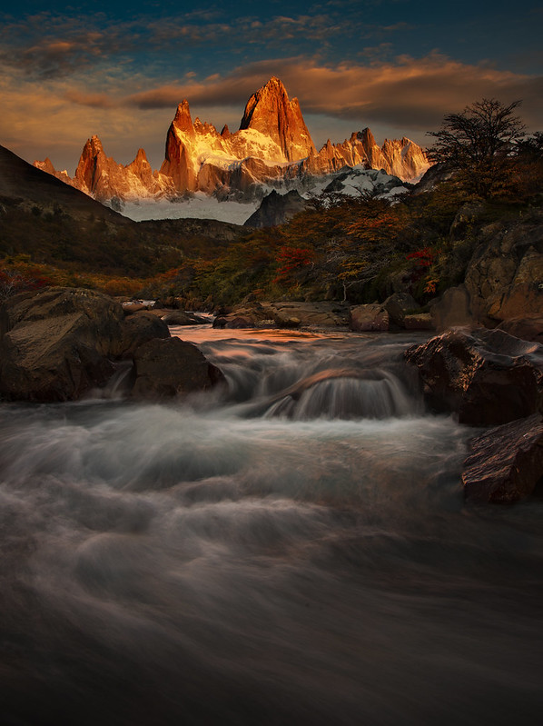 Sunrise on Monte Fitzroy, Patagonia