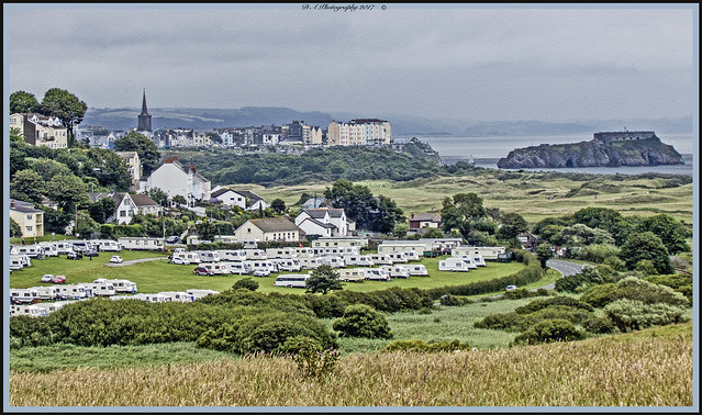 Landscape off Tenby and surrounding area