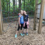Hanging out on the Cedar Lane Playground