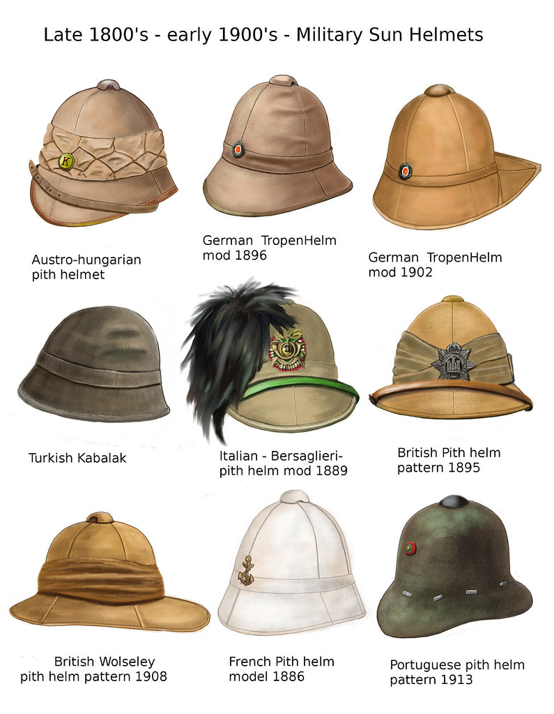WW1 Sun Helmets | The sun pith is a dominant feature of Euro