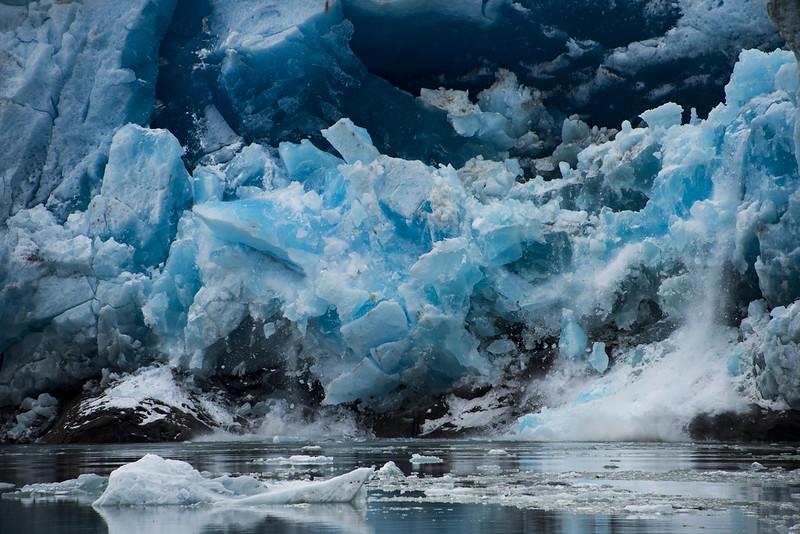 Glacier Calving on Lago Grey