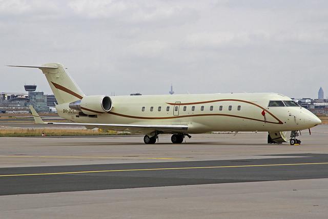 Air X Charter Canadair Challenger 850 9H-JOY FRA 23-06-17