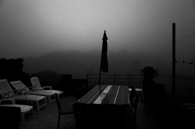 La terrasse, une veille de pleine lune...
