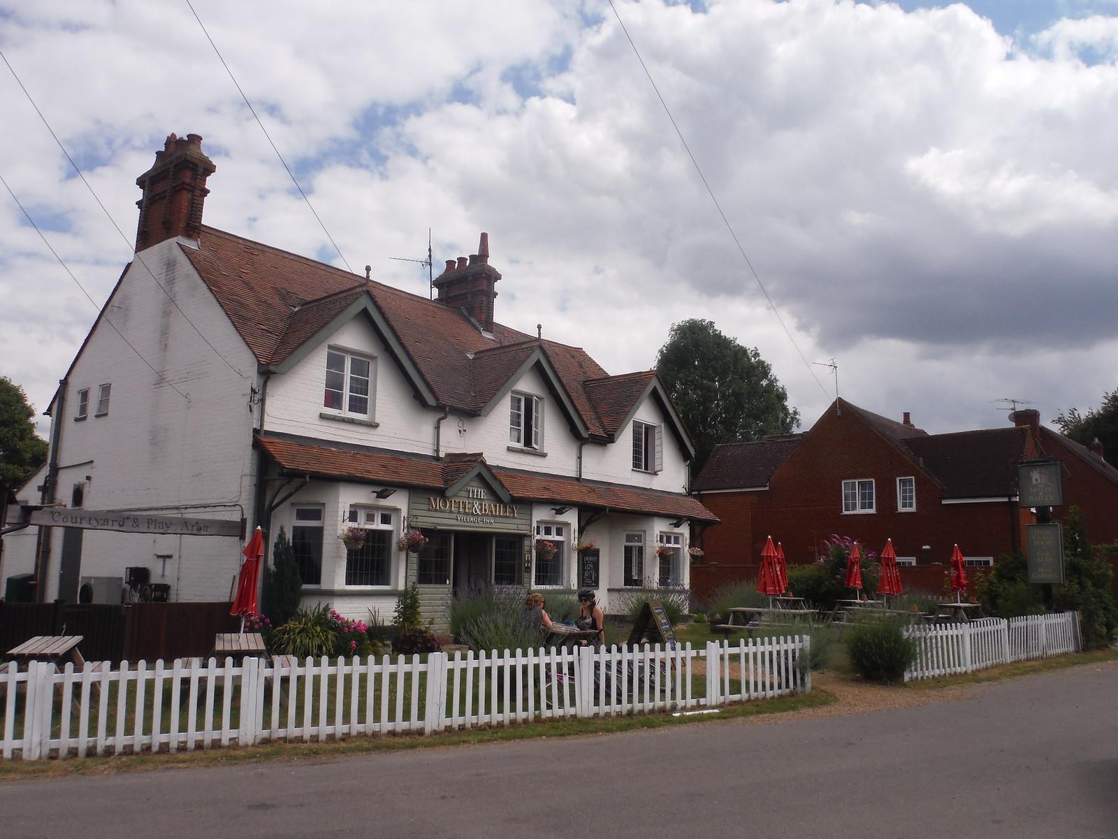 The Motte & Bailey pub, Pirton SWC Walk 233 - Arlesey to Letchworth Garden City