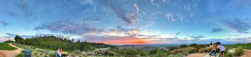 sunset newportcoast newportbeach california view vista panorama pano stitched clouds colors park orangecounty southerncalifornia