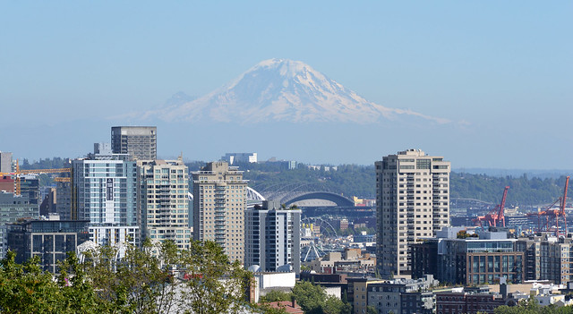 Mount Rainier and Seattle