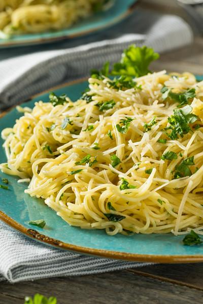 Garlic and Parsley Agnel Hair Pasta
