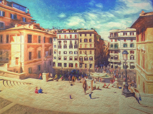 "When in Rome #37 ""Piazza Spagna from the Spanish Steps"""