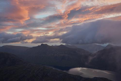 uk scotland europe schottland escocia ecosse landscape scene scenery view mountain hill slioch lochan fada fisherfield wester ross sony a7