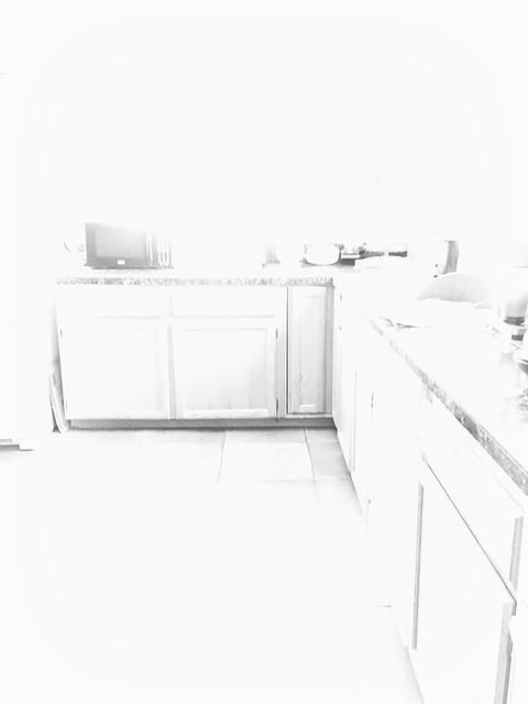 the kitchen last night....