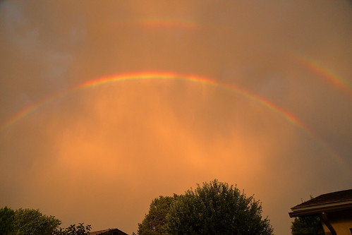 weather rainbow sunset whiterock newmexico usa