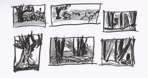 thumbnails pen penandink landscape ink