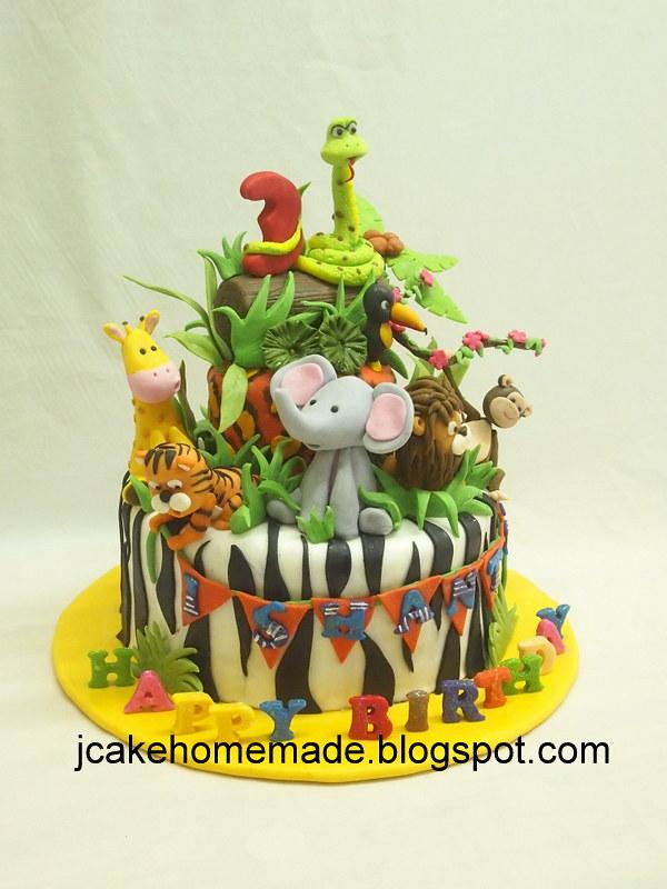 Superb Animals Birthday Cake Happy 3Rd Birthday Ishanth Tha Funny Birthday Cards Online Benoljebrpdamsfinfo