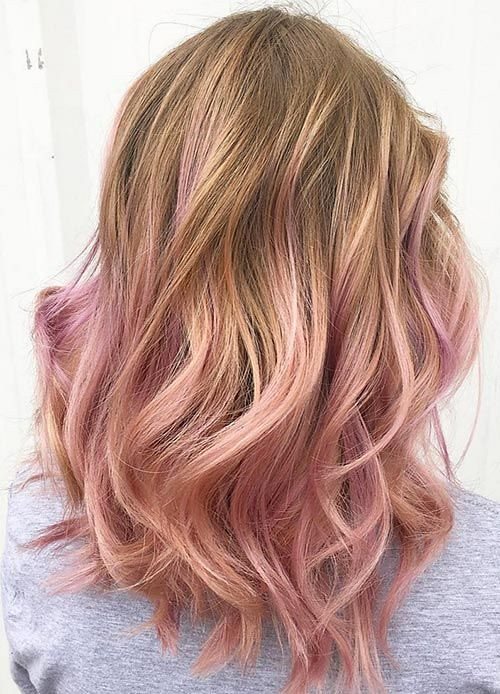 Trendy Hair Highlights 40 Rose Gold Hair Color Ideas In