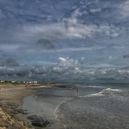 eyedocal iphone7 iphoneography beach shore sunrise wildwood jerseyshore ocean