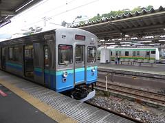 朝夕の通勤時間帯を除き、普通電車は伊豆急行の車両で運行される