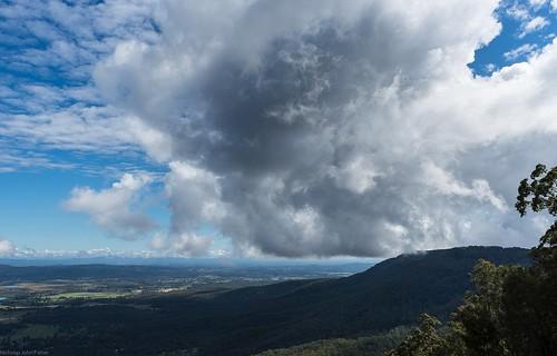 landscape cloudscape clouds sky view outlook lookout vista tamborinemountain australianmountains hendersonsknob cloudshadow winter poststorm distance albertvalley sequeensland queensland australia australianlandscape