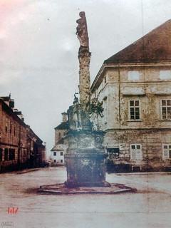 1868 kipa Bl. Dj. Marije ispred crkve sv. Marka - prije 1868