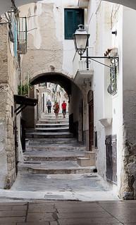 Alleyway in Vieste, Italy