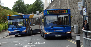 Swindon ... Stagecoach buses VU06 HZX and CN54 EDL. | by bazzadarambler