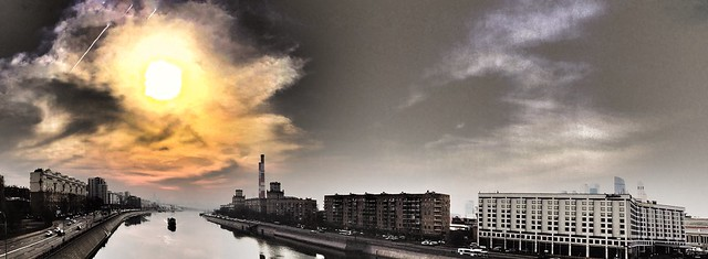 #Moscow #River #Cityscape #Panorama #Sunset )))
