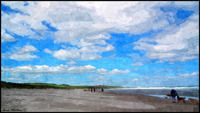 Bamburgh Beach, Northumberland, UK