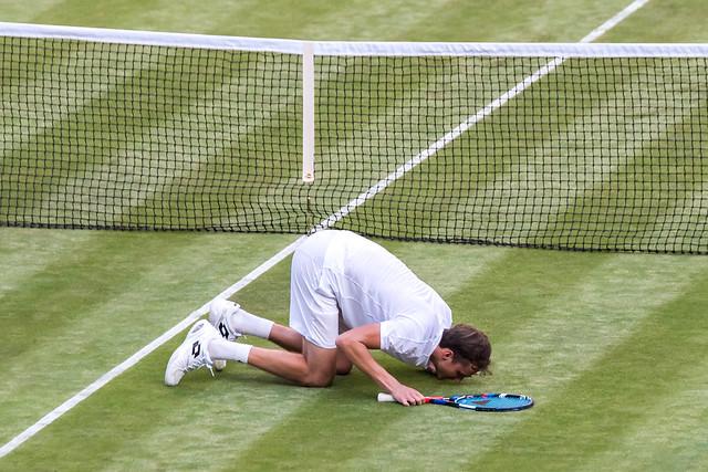 Medvedev loves the grass