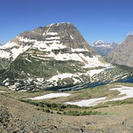 Bearhat Mountain and Hidden Lake on the way up Mt. Reynolds