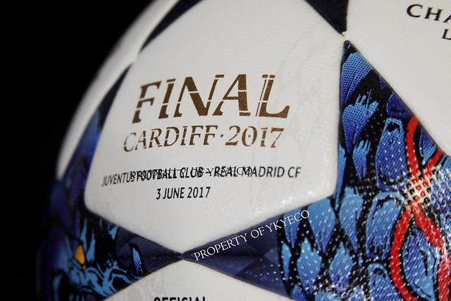 UEFA CHAMPIONS LEAGUE 2016-17 FINAL CARDIFF 2017 MATCH USED ADIDAS BALL, JUVENTUS FC VS REAL MADRID CF 15