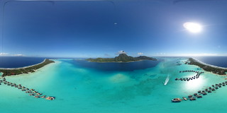 Kite Aerial Panorama on Bora Bora | by Pierre Lesage