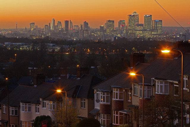 La signora addormentata / The sleeping lady (London skyline from Shooter's Hill, London, United Kingdom)