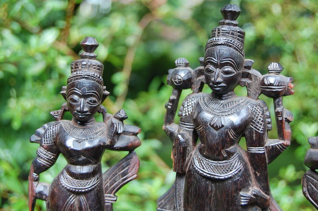 Vishnu With Sridevi & Bhudevi | Vishnu in the middle with Sr