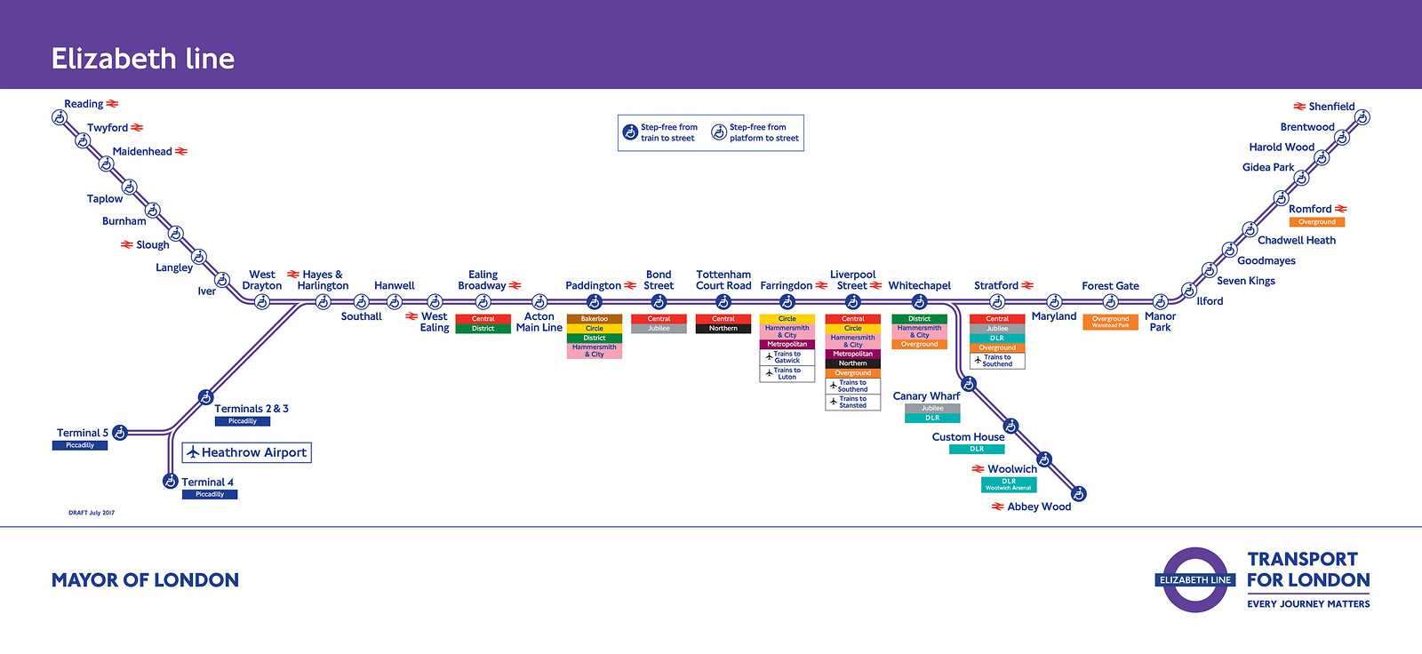 TfL image - Elizabeth line services from December 2019