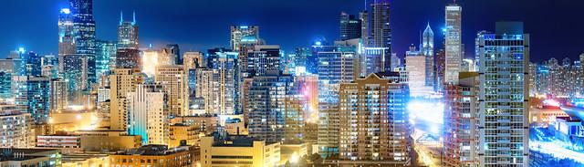 Big City Night Pano