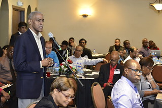 Albert Daniel, ICANN representative contributes to the panel discussion | by ttmag