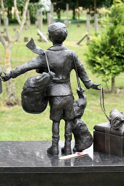 National Arboretum, England - Evacuees - child detail on memorial